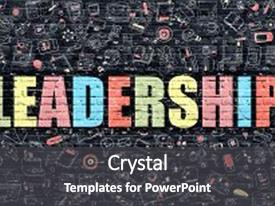 Leadership powerpoint templates crystalgraphics slide set featuring leadership in multicolor doodle design image and a dark gray colored foreground toneelgroepblik Images