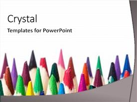 Crayon powerpoint templates crystalgraphics crystal powerpoint template with crayon light background pencils stand art themed background and a white toneelgroepblik Images