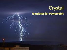 Lightning powerpoint templates crystalgraphics cool new slide deck with lightning lightnings flash rain thunderstorm backdrop and a tawny brown colored toneelgroepblik Gallery