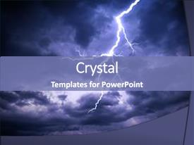Lightning powerpoint templates crystalgraphics presentation theme consisting of lightning strike on the dark background and a teal colored foreground toneelgroepblik Gallery