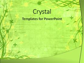 Lined paper powerpoint templates crystalgraphics slide deck with lined paper green frame with floral patterns background and a yellow colored toneelgroepblik Images