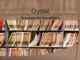 Medical records powerpoint templates crystalgraphics crystal powerpoint template with lot of medical record files themed background and a coral colored foreground toneelgroepblik Gallery