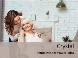Elderly powerpoint templates crystalgraphics crystal powerpoint template with love my dear pleasant elderly themed background and a light gray toneelgroepblik Image collections
