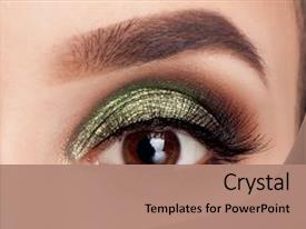 Eye powerpoint templates crystalgraphics a presentation with make up of woman eye background and a coral colored foreground toneelgroepblik Choice Image