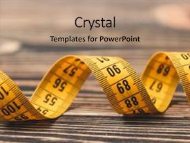 Measurement powerpoint templates crystalgraphics audience pleasing slide set having measurement curved measuring tape measuring tape backdrop and a coral toneelgroepblik Choice Image