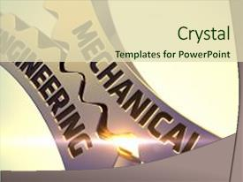 Mechanical powerpoint templates crystalgraphics beautiful presentation featuring engineering illustration with lens image and a soft green toneelgroepblik Images