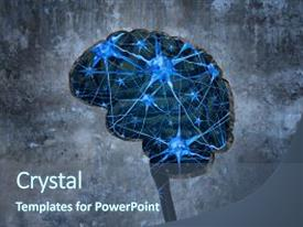 Neurology powerpoint templates crystalgraphics beautiful slide deck featuring neuron medical inside human neurology backdrop and a ocean colored toneelgroepblik Image collections