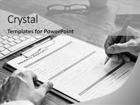 Insurance powerpoint templates crystalgraphics crystal powerpoint template with medical insurance application accident assurance themed background and a light gray toneelgroepblik Images