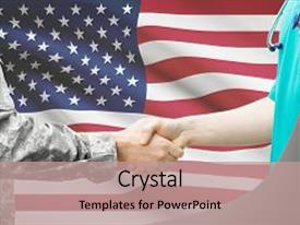 Army medicine powerpoint templates crystalgraphics cool new ppt enhanced with medical soldier and doctor shaking theme and a coral colored toneelgroepblik Gallery