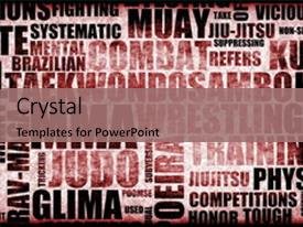 Martial arts powerpoint templates crystalgraphics crystal powerpoint template with mixed martial arts mma themed background and a coral colored foreground design toneelgroepblik Image collections