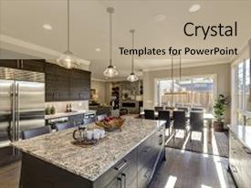 Gray powerpoint templates crystalgraphics crystal powerpoint template with modern gray kitchen features dark themed background and a mint green colored toneelgroepblik Gallery