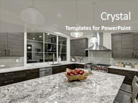 Glossy powerpoint templates crystalgraphics a presentation with modern traditional kitchen design in background and a gray colored foreground toneelgroepblik Gallery