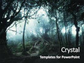 Jungle powerpoint templates crystalgraphics crystal powerpoint template with mossy forest with amazing jungle themed background and a dark gray colored toneelgroepblik Gallery