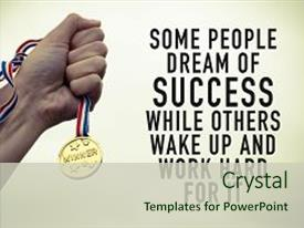 Motivation powerpoint templates crystalgraphics ppt with and success concept background and a soft green colored foreground toneelgroepblik Gallery