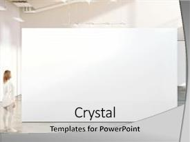 Art portfolio powerpoint templates crystalgraphics presentation with museum with contemporary art exhibition background and a light gray colored foreground toneelgroepblik Gallery