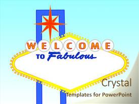 powerpoint template: welcome celebration to las vegas (18437), Powerpoint templates