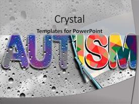 Neurology powerpoint templates crystalgraphics slide set enhanced with neurology autism awareness and autistic disorders background and a light gray toneelgroepblik Gallery