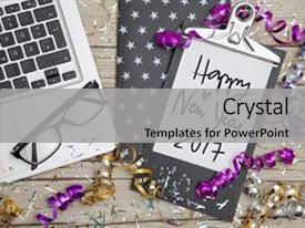 Business invitation powerpoint templates crystalgraphics crystal powerpoint template with new years eve business card themed background and a light gray colored toneelgroepblik Choice Image
