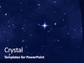 Presentation theme consisting of nice blue star field background and a navy blue colored foreground.