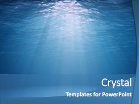 Underwater powerpoint templates crystalgraphics crystal powerpoint template with ocean surface seen from underwater themed background and a teal colored foreground toneelgroepblik Images