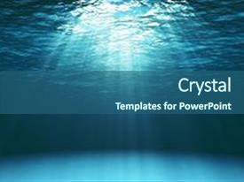 Underwater powerpoint templates crystalgraphics crystal powerpoint template with ocean surface seen from underwater themed background and a ocean colored foreground toneelgroepblik Images