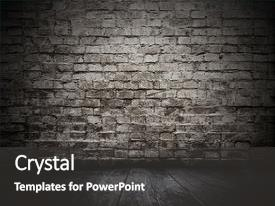 Colorful PPT layouts enhanced with old room with brick wall backdrop and a dark gray colored foreground.