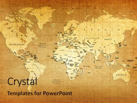 A theme featuring old world map image and a yellow colored foreground.
