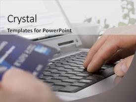 Online shopping powerpoint templates crystalgraphics crystal powerpoint template with online shopping using a credit themed background and a light gray colored toneelgroepblik Gallery