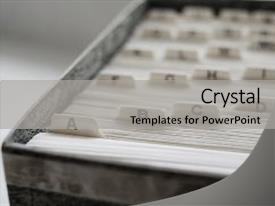 Index powerpoint templates crystalgraphics beautiful ppt with organize index cards for organizing background and a light gray colored foreground toneelgroepblik Image collections