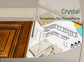 Design powerpoint templates crystalgraphics crystal powerpoint template with paint samples and kitchen design themed background and a soft green colored toneelgroepblik Gallery