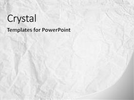 <b>Crystal</b> PowerPoint template with pattern wall carpet covering art themed background and a white colored foreground design featuring a [design description].