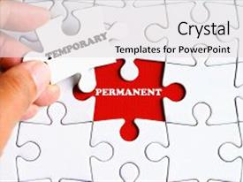 Missing powerpoint templates crystalgraphics slide set enhanced with permanent word on missing puzzle theme and a white colored foreground toneelgroepblik Choice Image