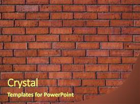 Presentation theme consisting of photo of a brick wall background and a tawny brown colored foreground.