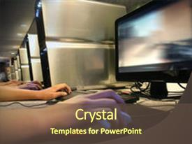 powerpoint template: a person working on the computer (8023), Presentation templates