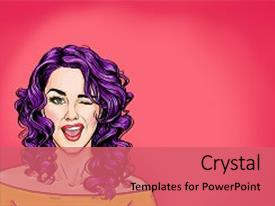 Hollywood powerpoint templates crystalgraphics cool new slide set having pink background pop art backdrop and a coral colored foreground toneelgroepblik Image collections