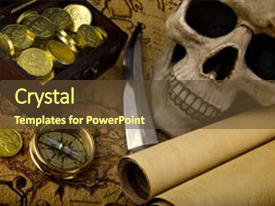 Pirate treasure powerpoint templates crystalgraphics beautiful ppt theme featuring pirate treasure old brass compass backdrop and a tawny brown colored foreground toneelgroepblik Choice Image