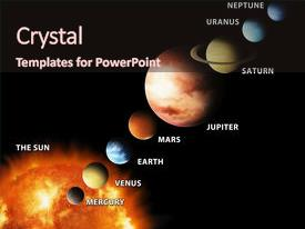 powerpoint template: inner four solar system planets furnished, Presentation templates