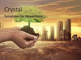 Climate powerpoint templates crystalgraphics presentation enhanced with plant on soil with climate theme and a coral colored foreground toneelgroepblik Image collections