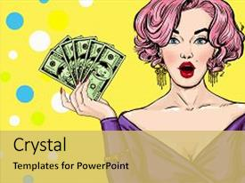 Hollywood powerpoint templates crystalgraphics presentation enhanced with pop art girl theme and a yellow colored foreground toneelgroepblik Image collections