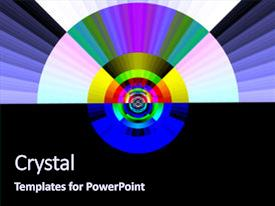 Pop art powerpoint templates crystalgraphics crystal powerpoint template with pop art rainbow at dawn themed background and a navy blue colored toneelgroepblik Image collections
