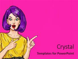 Women rights powerpoint templates crystalgraphics presentation having pop art surprised woman pointing backdrop and a coral colored toneelgroepblik Image collections