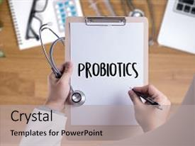 Bacteria yeast powerpoint templates crystalgraphics ppt with bacteria yeast probiotics medical equipment eating healthy background and a light gray colored toneelgroepblik Images