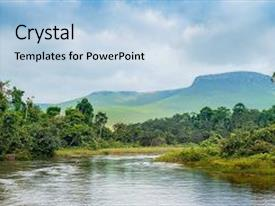 Jungle powerpoint templates crystalgraphics crystal powerpoint template with proceeds on jungle congo africa themed background and a light blue colored toneelgroepblik Gallery