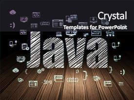 Java powerpoint templates crystalgraphics ppt theme consisting of programming concept glowing text java background and a dark gray colored foreground toneelgroepblik Gallery
