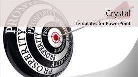 Slide set featuring prosperity concept target isolated background and a light gray colored foreground.