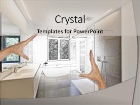 Powerpoint template digital representation of kitchen interior presentation enhanced with towards renovation of a luxury modern theme and a light gray colored toneelgroepblik Gallery
