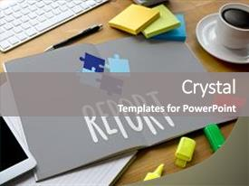 School report powerpoint templates crystalgraphics crystal powerpoint template with report information news progress research themed background and a gray colored foreground toneelgroepblik Choice Image