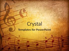 powerpoint template: bright purple background with music notes (21076), Modern powerpoint