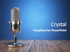 Old powerpoint templates crystalgraphics beautiful ppt with 3d retro old microphone radio show background and a teal colored foreground toneelgroepblik Gallery