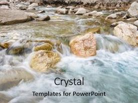 River powerpoint templates crystalgraphics cool new slide deck enhanced with river of fresh water among theme and a light gray toneelgroepblik
